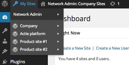 Gemakkelijk al uw websites beheren vanuit één centraal punt
