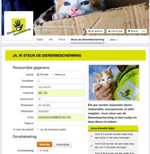 Steun de Dierenbescherming donatie APP