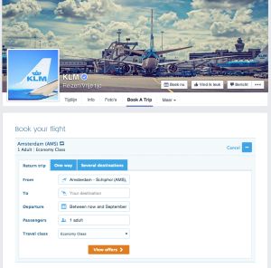 KLM Book a trip